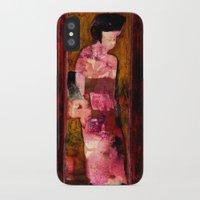 geisha iPhone & iPod Cases featuring Geisha by agnes Trachet