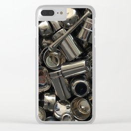 Metal Abstraction Clear iPhone Case