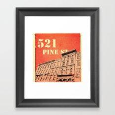 Pine St Framed Art Print