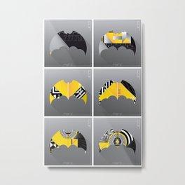 Bat-Man Promo Series: Vertical Clean Metal Print