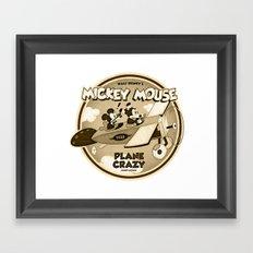 Plane Crazy Framed Art Print