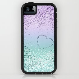 Sparkling MERMAID Girls Glitter Heart #1 #decor #art #society6 iPhone Case