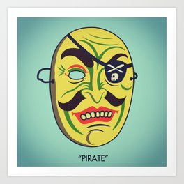 """Pirate"" Art Print"