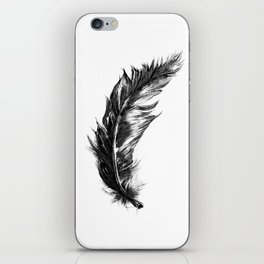 Feather- B&W // Illustration iPhone Skin