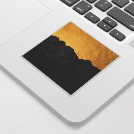 Black Grunge & Gold texture Sticker