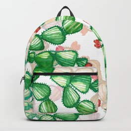 cactus with a red flowers Backpack