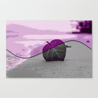 leaf Canvas Prints featuring Leaf by Aloke Design