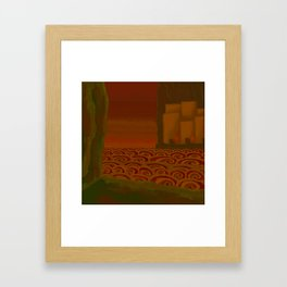 Multitudinous Seas Incarnadine Framed Art Print