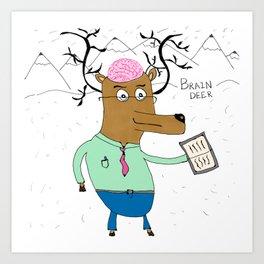 Brain Deer Art Print