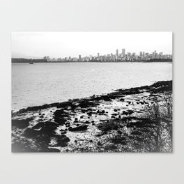 Vancouver Skyline on a Grey Day Canvas Print