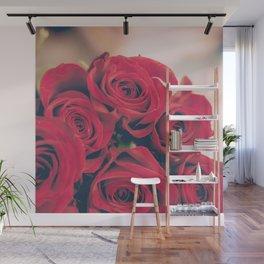 Bundle of Red Roses Wall Mural