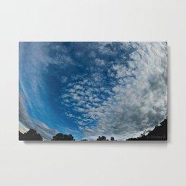 Fish-Eye Clouds Metal Print