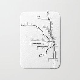 Chicago CTA Map, Chicago Map Art, CTA Art, Chicago Wall Art, Chicago Art, L Train, Art Print Bath Mat