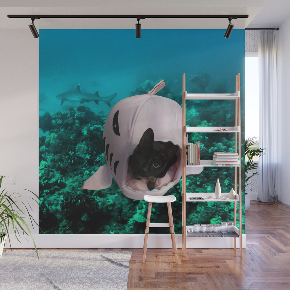 Shark Attack Wall Mural by Huntercolgate WMP7931429