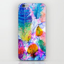 spring feathers iPhone Skin