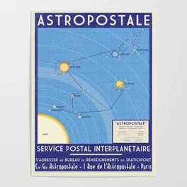 ASTROPOSTALE - Solar System Map Poster