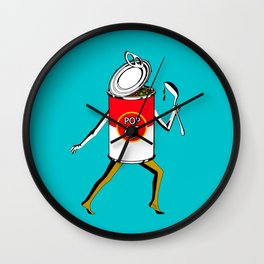 Pop Art to Go Wall Clock