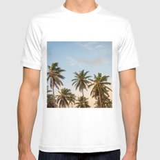 Chilling Palm Trees MEDIUM Mens Fitted Tee White