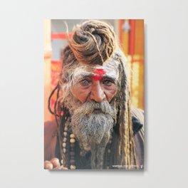 Baba, Rishikesh, India Metal Print