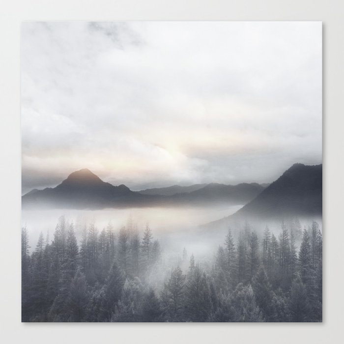 Sunrise in the Mountains Canvas Print