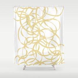 Golden Ribbons - Flow Shower Curtain