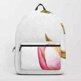 Tulip Watercolor Art Backpack