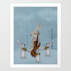 the bunny quartet Art Print