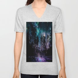 One Magical Night... teal & purple Unisex V-Neck