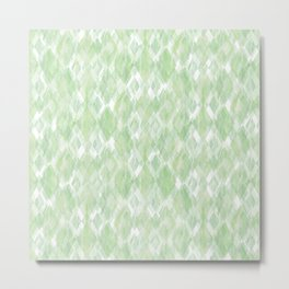 Harlequin Marble Mix Greenery Metal Print