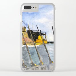 marine survey Clear iPhone Case