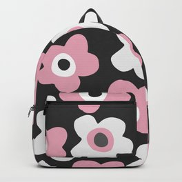 White and pink flowers Backpack