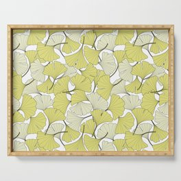 ginkgo leaves (special edition) Serving Tray