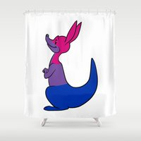bisexual Shower Curtains featuring Bisexual Kangaroo by alashby