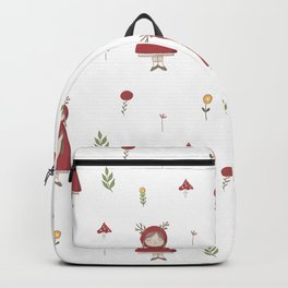Little Red Riding Hood Girl with Antlers Backpack