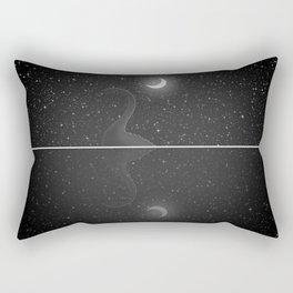 Nessie Starry Night - Loch Ness Monster Rectangular Pillow