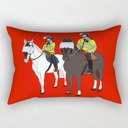 London Metropolitan Horse Cops Rectangular Pillow