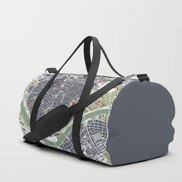 Seville city map engraving Duffle Bag