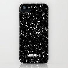 Retro Speckle Print - Black Slim Case iPhone (5, 5s)