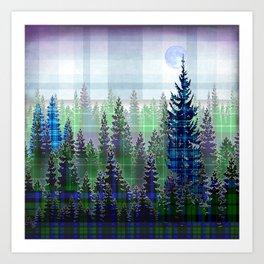 Plaid Forest Art Print