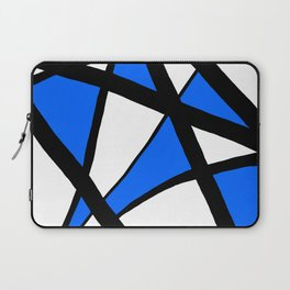 China Blue Geometric Triangle Abstract Laptop Sleeve