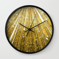 big bang Wall Clocks featuring Big Bang by Foxxya