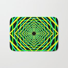 Diamonds in the Rounds Blacklight Neons Yellow Greens Bath Mat
