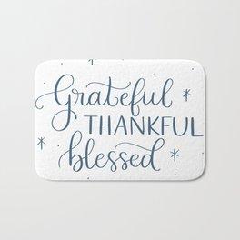Grateful Thankful Blessed Bath Mat