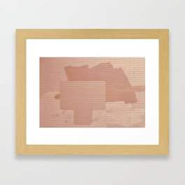 Nude Brick Framed Art Print