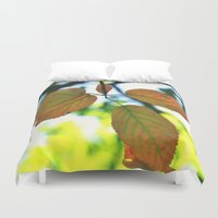 trout Duvet Covers featuring Trout & Trails by Emma Deer