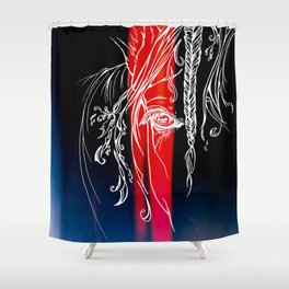 Delicate-Red Shower Curtain