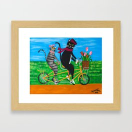 Kitty Cat Outing Framed Art Print