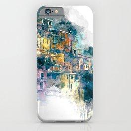 Houses village coast Italy iPhone Case
