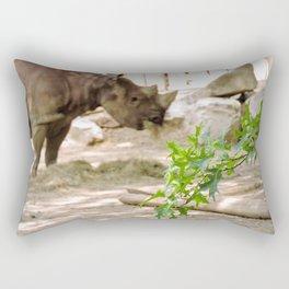 Rhino Munchies Rectangular Pillow