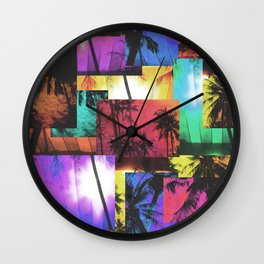 Tree Patterns with Sunset Wall Clock